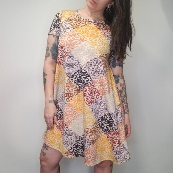 fb3b15a09d5e LuLaRoe Dresses & Skirts - LULAROE Carly Dress Patchwork Jacquard Plaid